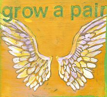 Grow a Pair (of wings!) Angel wing pattern by JodiFuchsArt