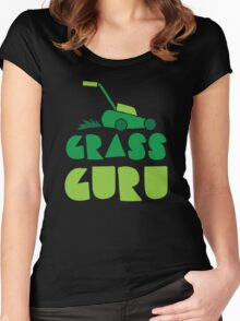 GRASS GURU (with lawn mower) Women's Fitted Scoop T-Shirt