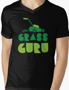 GRASS GURU (with lawn mower) Mens V-Neck T-Shirt