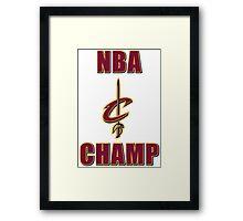NBA Champ Framed Print