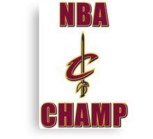 NBA Champ Canvas Print