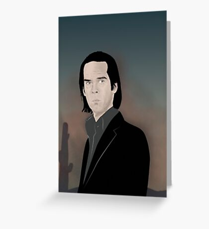 Nick Cave desert Greeting Card