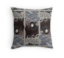Fumer Tue on Dark Beige Throw Pillow