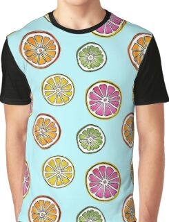 Summer Fruit ice blue Graphic T-Shirt