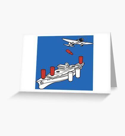 BATTLESHIP / SEA BATTLE  Greeting Card