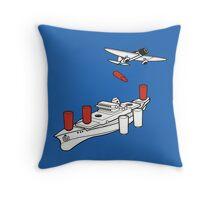 BATTLESHIP / SEA BATTLE  Throw Pillow