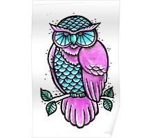 Traditional Owl Poster