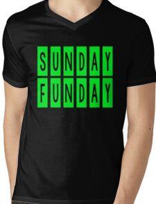 SUNDAY FUNDAY Mens V-Neck T-Shirt