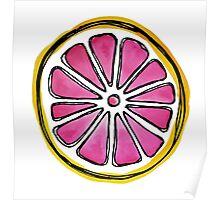 watercolor Grapefruit  Poster
