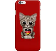 Cute Kitten Cat with German Flag Heart iPhone Case/Skin
