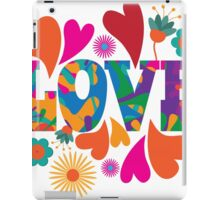 Sixties style mod pop art psychedelic colorful Love text design iPad Case/Skin