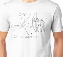 PIONEER 10 / 11 SPACECRAFT PLAQUE Unisex T-Shirt