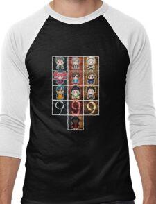 9 sprites 9 persons 9 pixels Men's Baseball ¾ T-Shirt