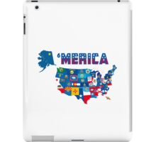 Patriotic America Map With States Flags iPod / iPhone 4  / iPhone 5 Case / Samsung Galaxy Cases  iPad Case/Skin