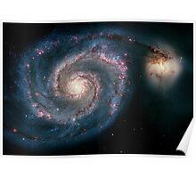 Whirlpool Galaxy V2 | Infinity Symbol | Fresh Universe Poster