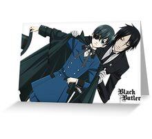 Black Butler  Greeting Card