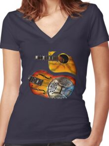 My Axe and Reso Women's Fitted V-Neck T-Shirt