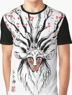 The Deer God sumi-e Graphic T-Shirt