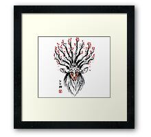 The Deer God sumi-e Framed Print