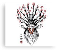 The Deer God sumi-e Canvas Print