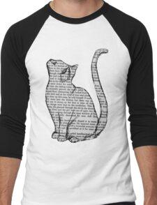 NEWSPAPER CAT tumblr merch! Men's Baseball ¾ T-Shirt