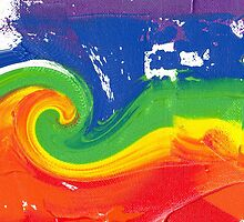 """Energetic Abstractions - """"Colour Blast Twist #1"""" by Abstractions"""