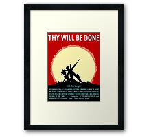 COUNTER/Weight - Thy Will Be Done Framed Print
