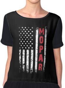 Funny Mopar Flag T-shirt Chiffon Top