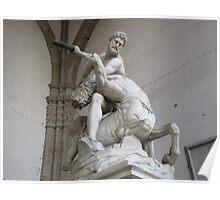 Italian Statue Poster