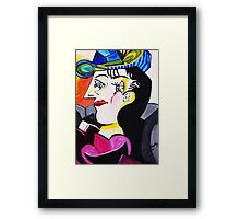 PICASSO BY NORA    Blue  Hat Framed Print