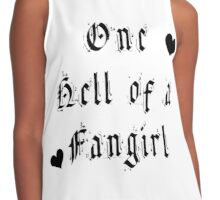 One Hell Of A Fangirl - Black Butler Fanart Contrast Tank
