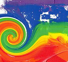 """Energetic Abstractions - """"Colour Blast Twist #2"""" by Abstractions"""