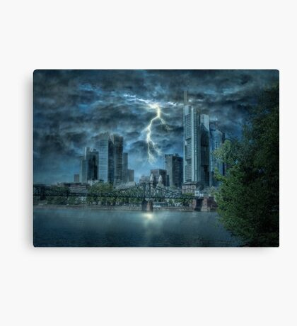 Storm in the city Canvas Print