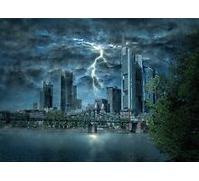 Storm in the city Photographic Print