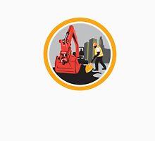 Mechanical Digger Construction Worker Circle Unisex T-Shirt