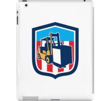 Forklift Truck Materials Logistics Shield Retro iPad Case/Skin