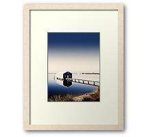 Matilda Bay Boat Shed Framed Print