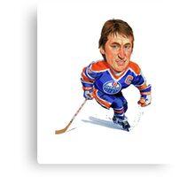 Wayne Gretzky Edmonton Oilers Canvas Print