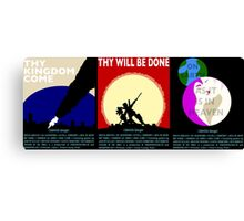 COUNTER/Weight - Triptych Canvas Print