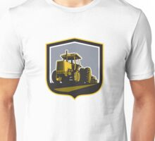 Farmer Driving Vintage Farm Tractor Plowing Retro Unisex T-Shirt
