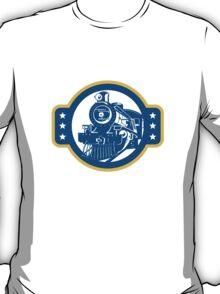 Steam Train Locomotive Front Retro T-Shirt