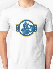 Steam Train Locomotive Front Retro Unisex T-Shirt