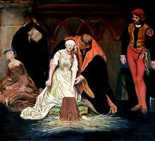 The Execution of Lady Jane Grey after Hippolyte Paul Delaroche by Hidemi Tada