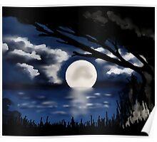 Blue Moonlight Serenade I Poster