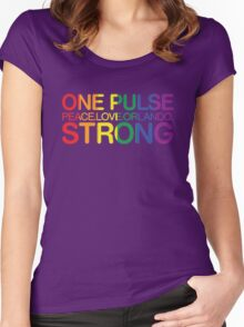 Peace, Love, Orlando Pride Women's Fitted Scoop T-Shirt