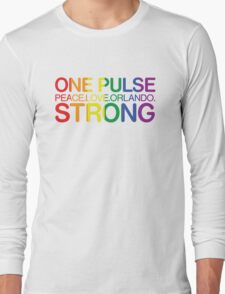 Peace, Love, Orlando Pride Long Sleeve T-Shirt
