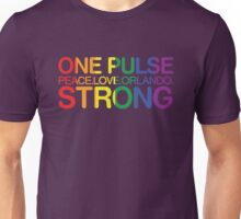 Peace, Love, Orlando Pride Unisex T-Shirt