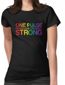 Peace, Love, Orlando Pride Womens Fitted T-Shirt