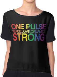 Peace, Love, Orlando Pride Chiffon Top
