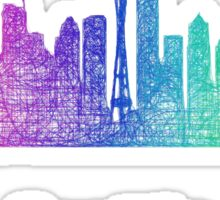 Rainbow Seattle skyline Sticker
